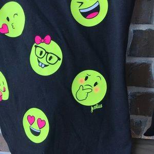 Justice Shirts & Tops - NWOT Justice Emoji Black Long Sleeve Top